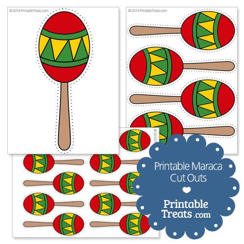 printable maraca cut outs