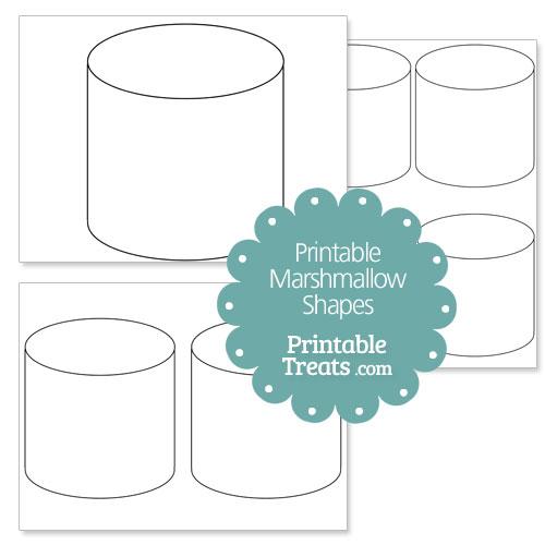 Gargantuan image in printable marshmallow template