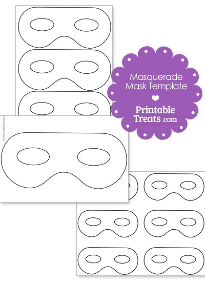 Printable Masquerade Mask Template  Printable TreatsCom
