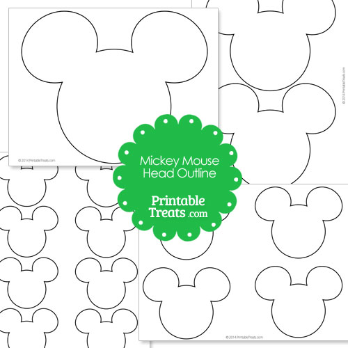 Printable Mickey Mouse Head Outline — Printable Treats.com