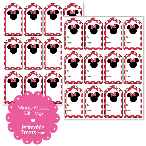 Printable Minnie Mouse Gift Tags Printable Treats Com