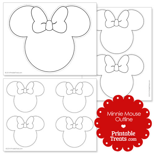 Printable minnie mouse outline printable for Free printable minnie mouse bow template