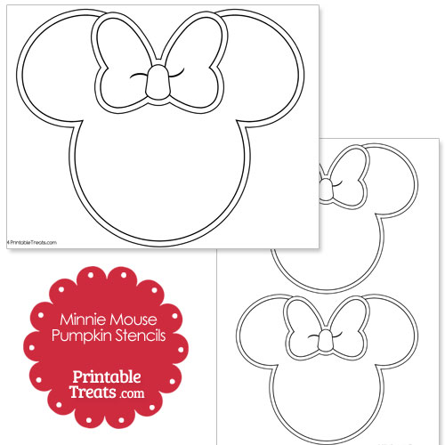 image about Minnie Mouse Pumpkin Stencil Printable named Printable Minnie Mouse Pumpkin Stencils Printable