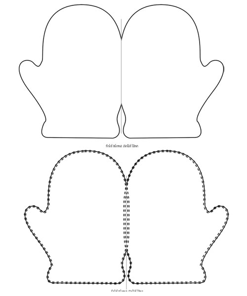 Mitten Template For Writing Printable Mitten Card Template