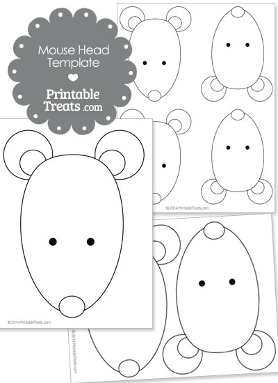 Printable Mouse Head Template From Printabletreats