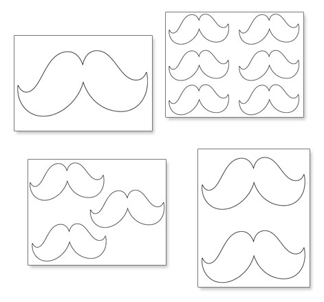 Outlines Printables Printable Mustache Outline