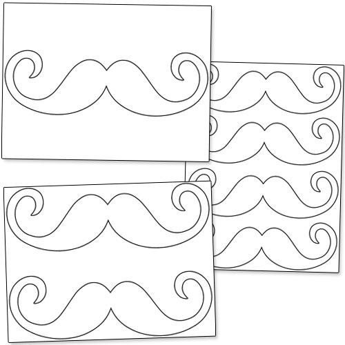 printable mustache template printable. Black Bedroom Furniture Sets. Home Design Ideas