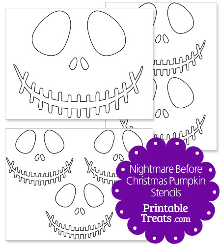 Printable Nightmare Before Christmas Pumpkin Stencils — Printable ...
