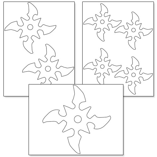 Ninja Star Template Printable Ninja Star T...