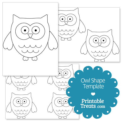 Owl Printable Template Printable Owl Shape Template