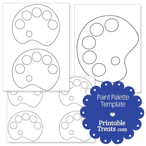 Printable Paint Palette Shape Template — Printable Treats.com