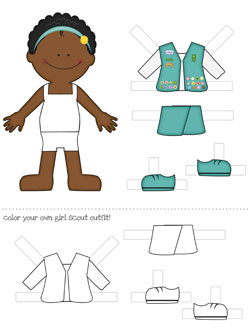 Printable Paper Dolls Girl Scouts Dress Up Printable