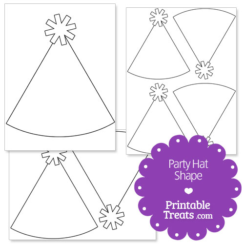 Printable Party Hat Shape Template — Printable Treats.Com