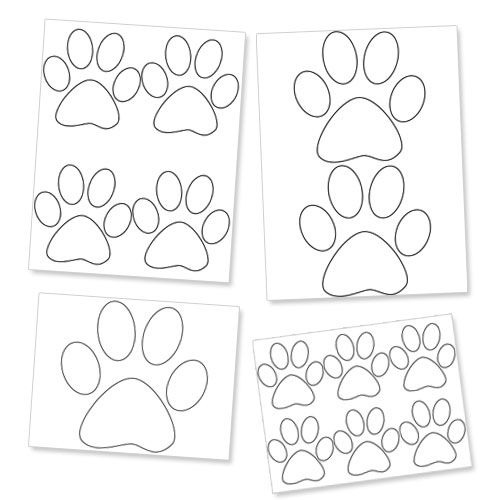 picture about Free Printable Paw Prints named Printable Paw Template Canine Paw Prints Printable