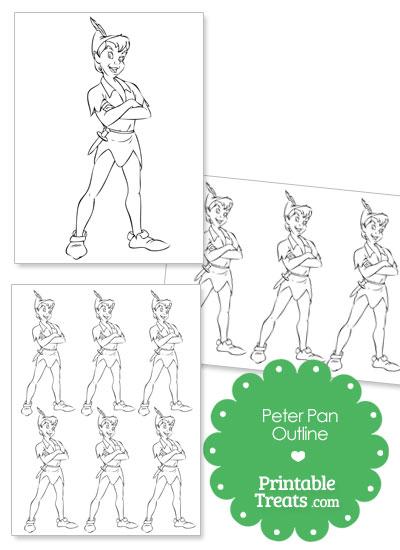 Printable Peter Pan Outline Printable