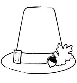 printable pilgrim hat coloring page