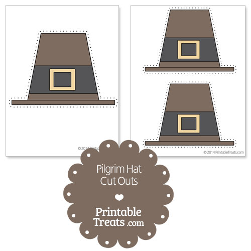 graphic relating to Printable Pilgrim Hats referred to as Printable Pilgrim Hat Slash Outs Printable