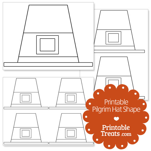 Printable Pilgrim Hat Shape Template Printable Treats Com