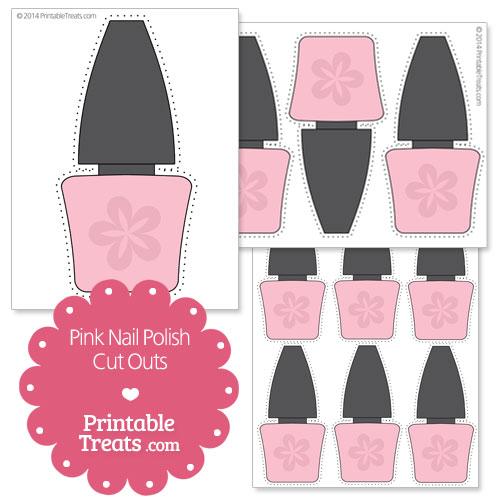 printable pink nail polish cut outs
