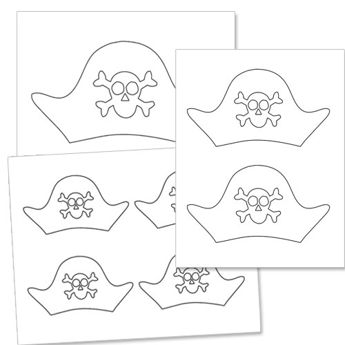 image about Printable Pirate Hats referred to as Pirate Hat Template Printable