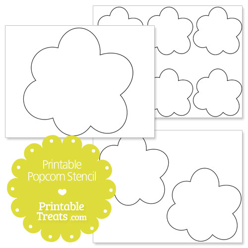 Popcorn Template Printable | Gallery