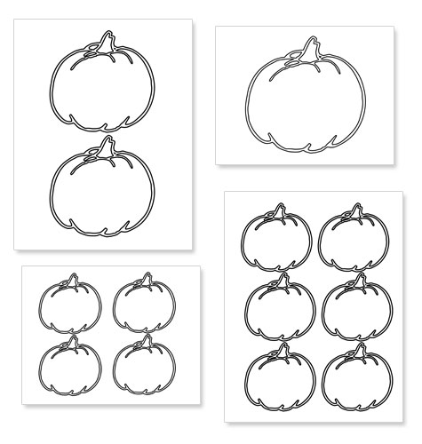 printable pumpkin shape template printable