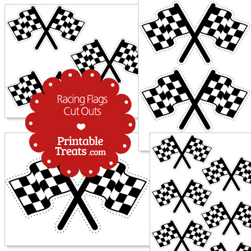 printable racing flag cut outs — printable treats, Powerpoint templates