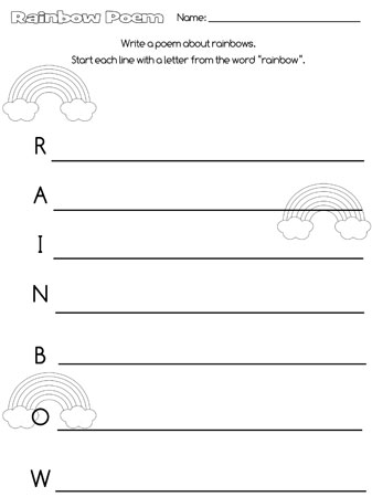 printable rainbow acrostic poem