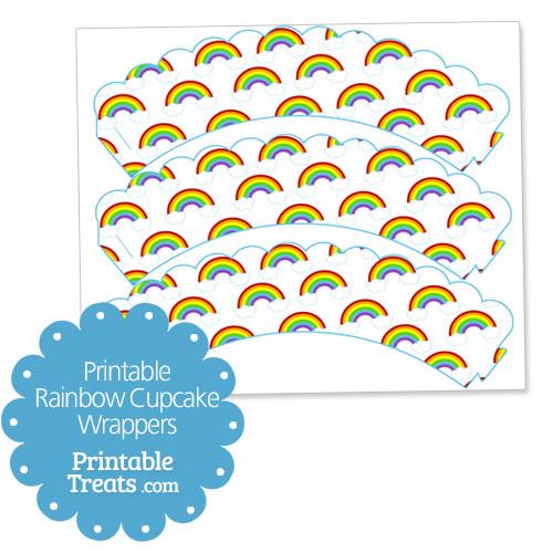 printable rainbow cupcake wrappers