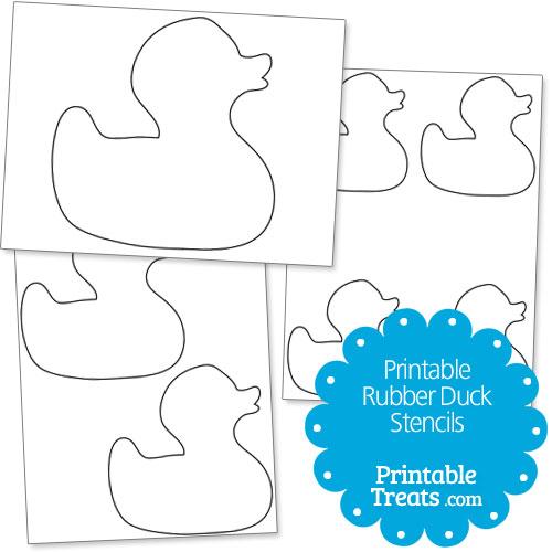 Rubber Duck Template Printable Rubber Duck Stencils