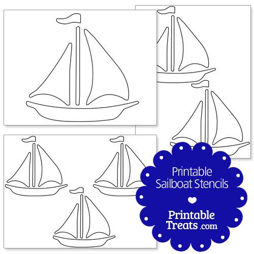 printable sailboat stencils printable treats com