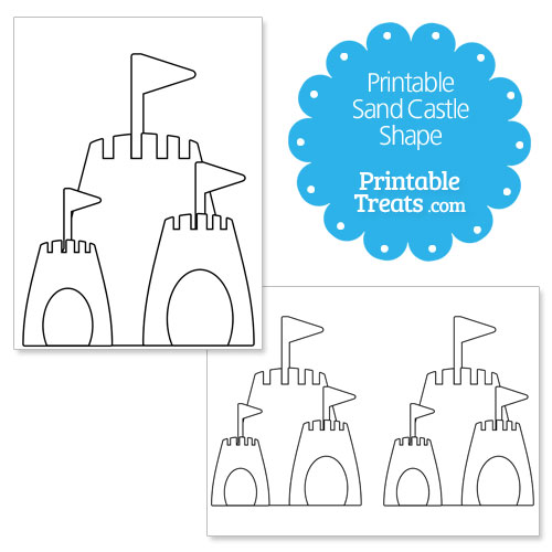 Printable sand castle shape template printable treats printable sand castle shape template pronofoot35fo Images