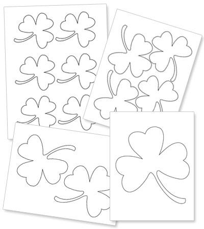 Printable shamrock template printable treats printable shamrock template pronofoot35fo Gallery