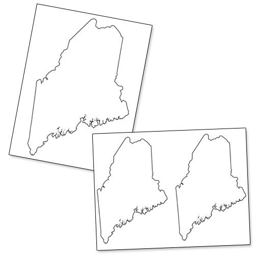 photograph relating to Printable State Outlines identified as Printable Condition of Maine Printable