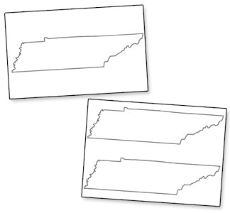 Printable Shape of Tennessee from PrintableTreats.com