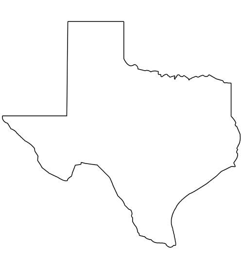 printable shape of texas