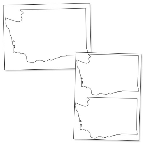 printable shape of washington