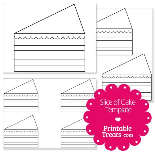 Printable Slice Of Cake Shape Template Printable Treats Com
