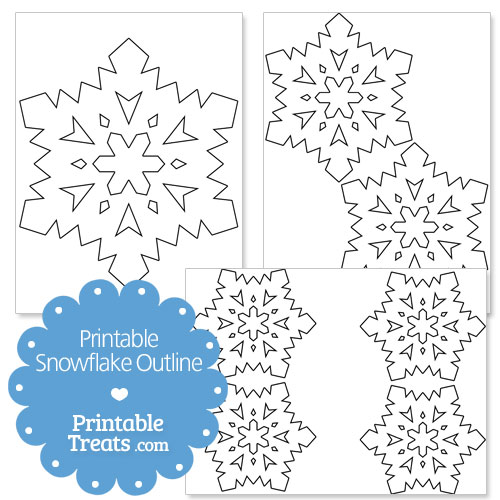 printable snowflake outline printable treats com