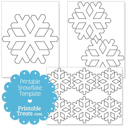 Printable Snowflake Templates  Printable TreatsCom