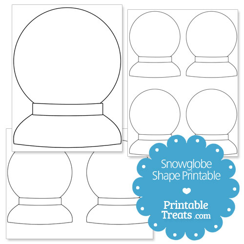 photo relating to Printable Globe Template known as Printable Snow Environment Condition Template Printable