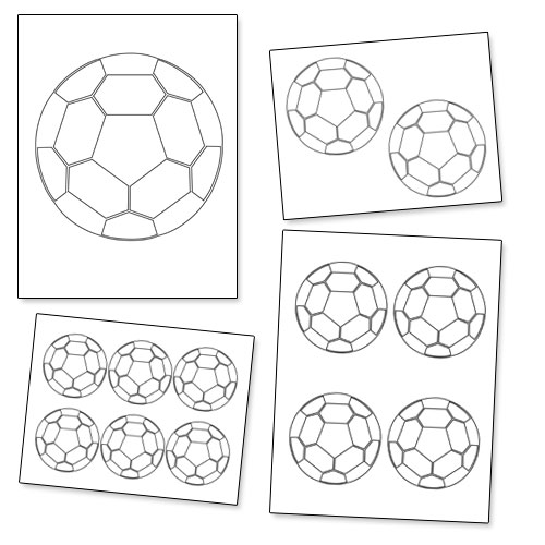 picture regarding Soccer Ball Template Printable named Printable Football Ball Template Printable