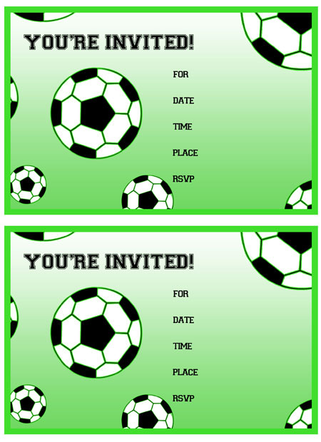 Terms of Use for the Free Printable Soccer Birthday Party Invitations