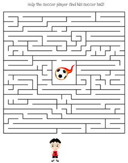 Printable Soccer Maze Games — Printable Treats com