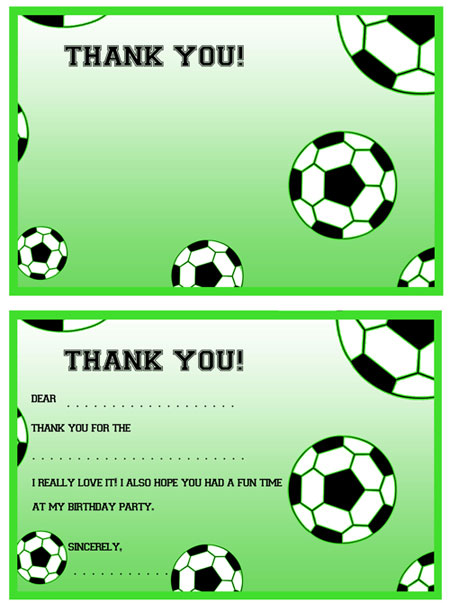 Printable Soccer Thank You Notes — Printable Treats.com