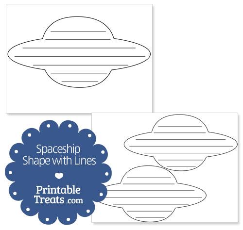 Printable Spaceship Shape with Lines \u2014 Printable Treats