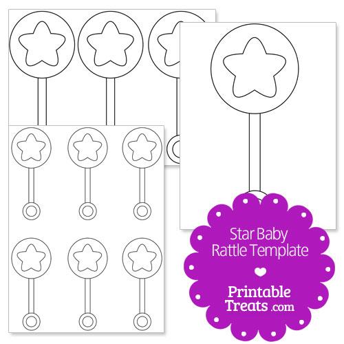 printable star baby rattle template printable treats com
