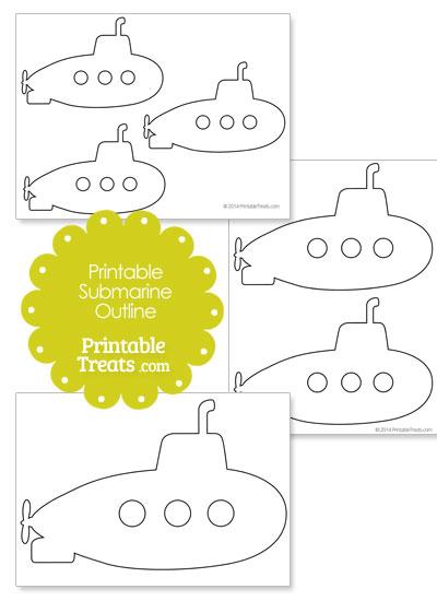 printable submarine outline printable treats com