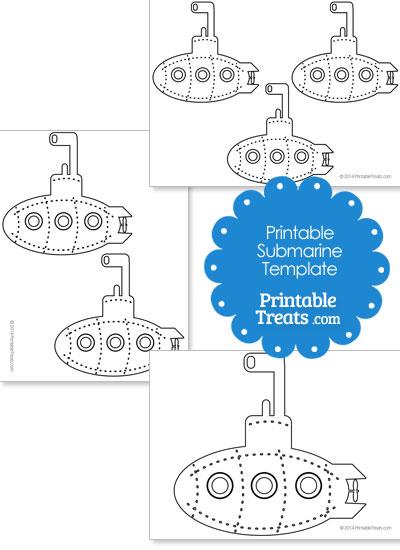printable submarine template printable treats com