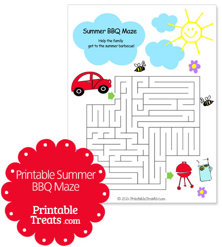 printable summer bbq maze